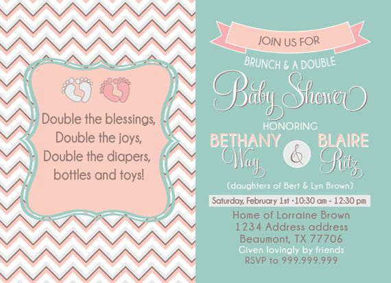 Joint Baby Shower Invitations could be nice ideas for your invitation template