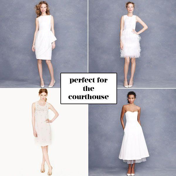 city hall wedding dresses via brooklyn bride