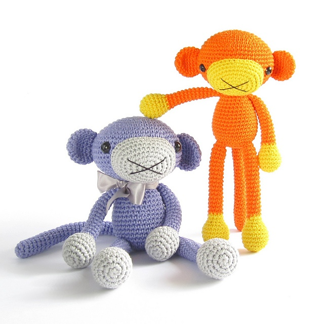 Amigurumi monkey - Crochet pattern - Stuffed animal - Cute ...