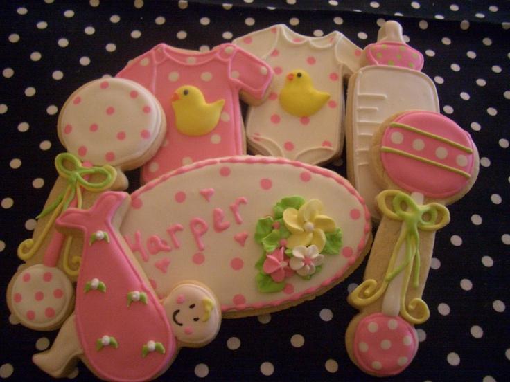 nannys sugar cookies llc baby shower baby shower cookies pintere