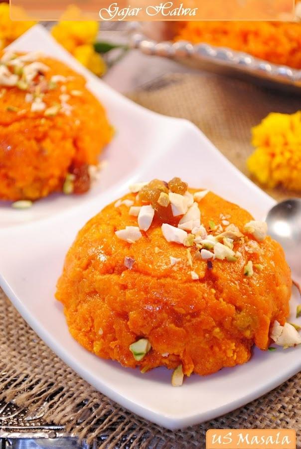 Gajar Halwa/Carrot Pudding. My fave Indian dessert