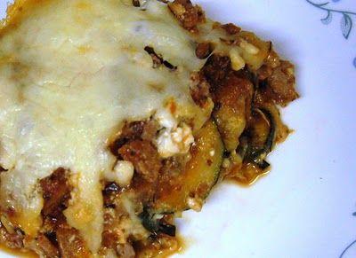 Zucchini Lasagna- no noodles- low carb!