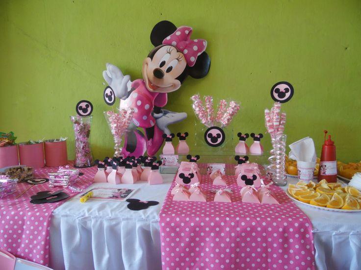 Minie vestido | Candy Bar & Fruit Salad Minie Mause | Pinterest