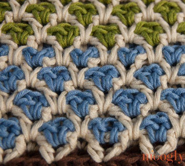 Crochet Moroccan Stitch - Tutorial Crochet Pinterest