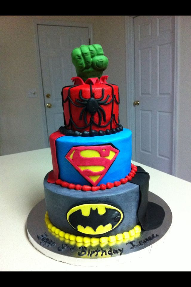 Awesome Bday Cake Images : Awesome marvel birthday cake Superhero Party Pinterest