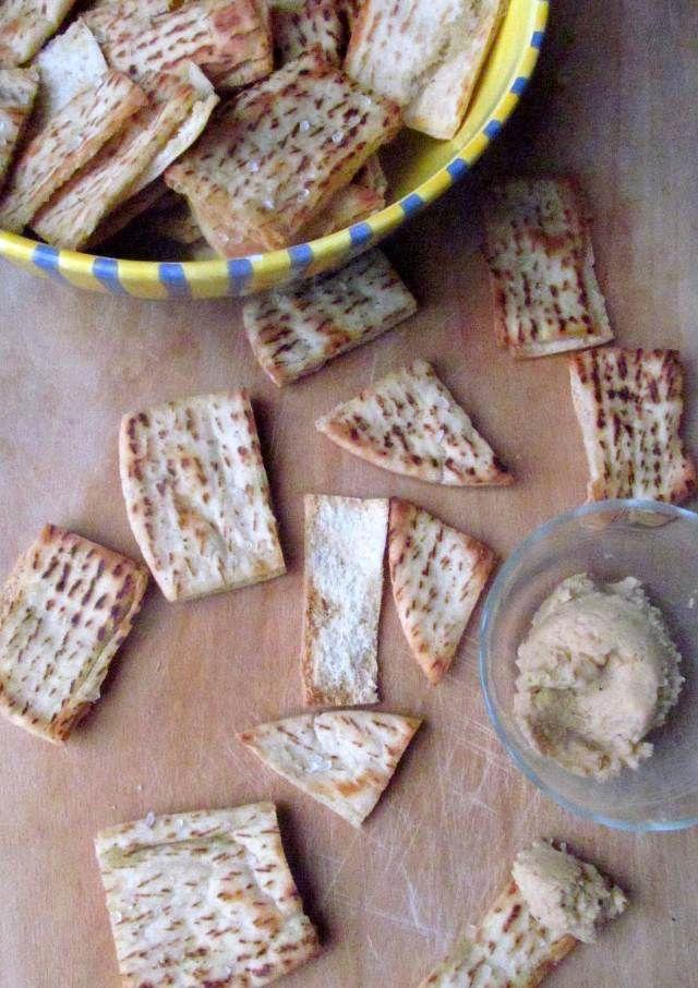 homemade pita chip recipe and hummus recipe very healthy