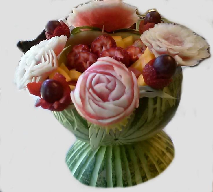 Mother s day fruit basket vegetable carving