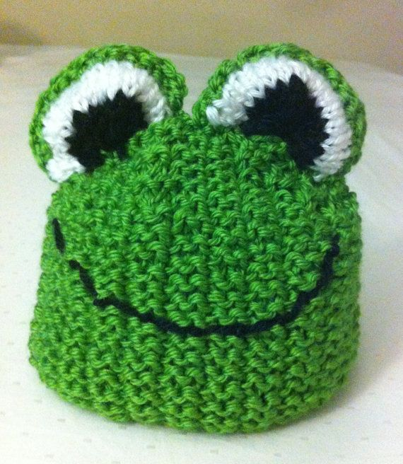 Knitting Pattern For Frog Hat : Knit Frog Hat by MnStyle on Etsy, USD20.00 Baby and Kid Stuff Pinterest