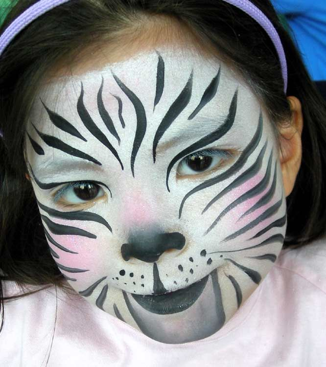 Zebra Face Paint Halloweens Pinterest