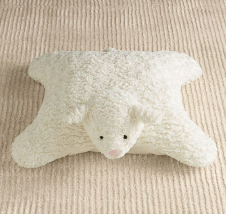 Plush Floor Pillows : Plush Lamb Floor Pillow
