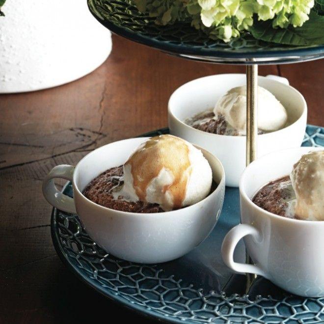 Decadent mocha dessert recipes - Cappuccino pudding cakes with vanilla ...