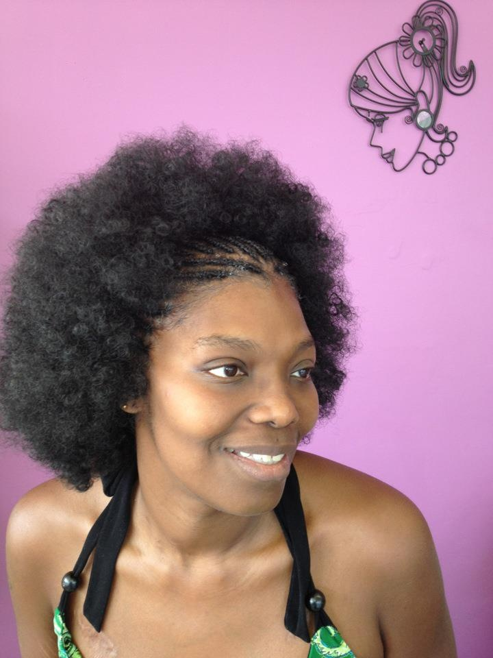 age 50 hairstyles : Afro Puff Natural Hair LONG HAIRSTYLES