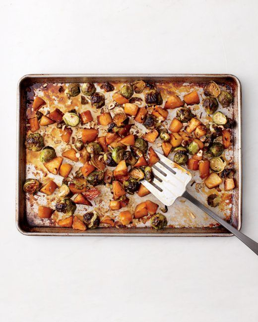 Maple-Roasted Brussels Sprouts and Rutabaga with Hazelnuts - I added a ...
