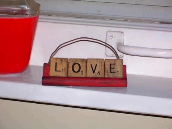 scrabble valentine's day card kit & game