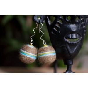 striped felt earrings