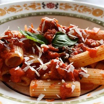 ... Style Pasta With Eggplant, Tomatoes, And Ricotta Salata (Pasta Alla