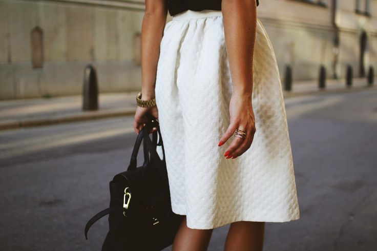 Full white skirt