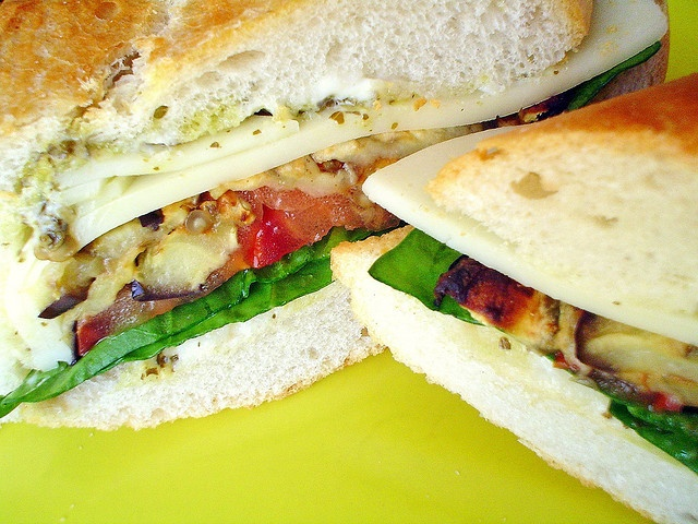 Grilled Eggplant Sandwich - grilled eggplant, Roma tomatos, spinach ...