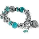 Oceana Trading Turquoise Stone with Heart/Dragonfly Bracelet at Cabela's 24.99
