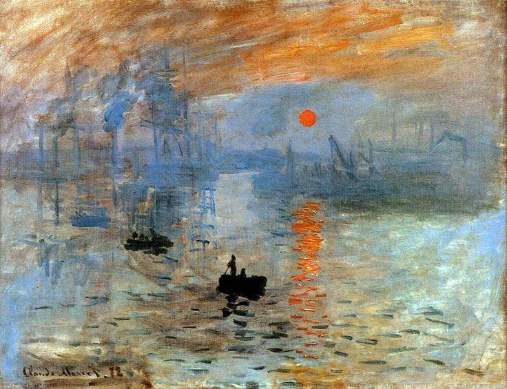 """Monet: """"Impresión. Sol naciente."""" Del título de este cuadro nace el impresionismo"""