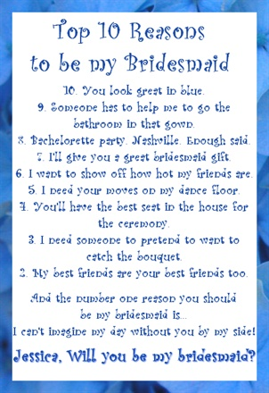 Mess of Beautiful Chaos : Wedding Wednesday: Will You Be My Bridesmaid?