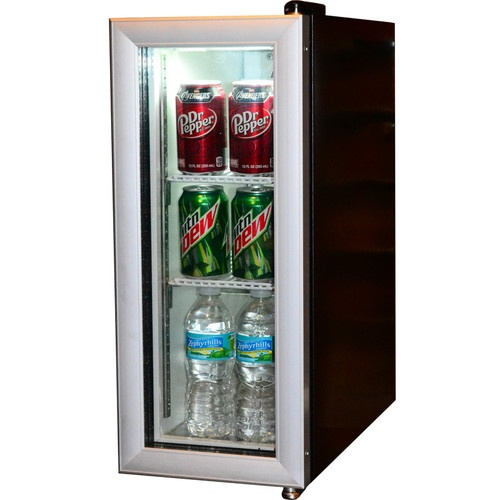 Compact beverage display cooler refrigerator commercial for Mini coffee bar
