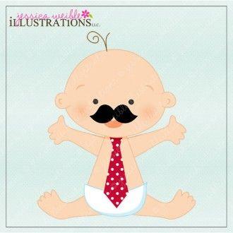 Moustache Baby | CLIP ART | Pinterest