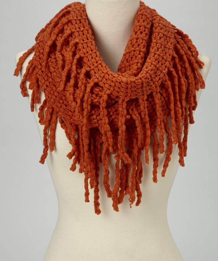 rust fringe infinity scarf dress up lover
