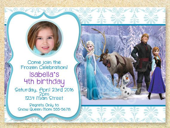 frozen birthday invitation frozen movie winter birthday invite chr