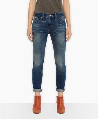 Levi's Boyfriend Skinny Selvedge Jeans - Foothills - Boyfriend
