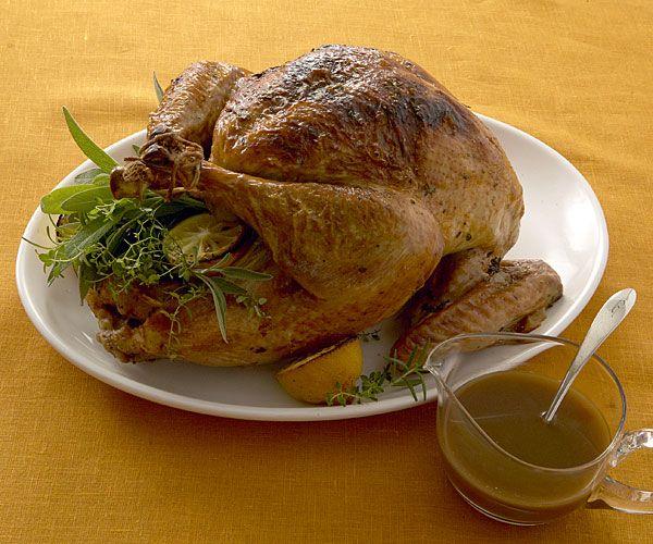 juicy roasted turkey. A Madeira jus, made from homemade turkey broth ...
