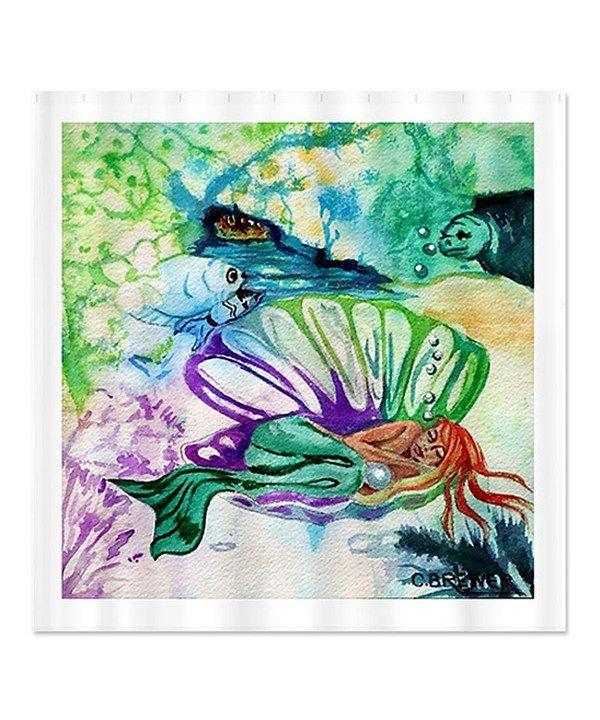 Where The Mermaid Sleeps Shower Curtain