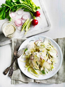 Celery, Fennel & Radish Salad With Homemade Blue Cheese Dressing ...