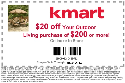 Kmart coupons in store printable
