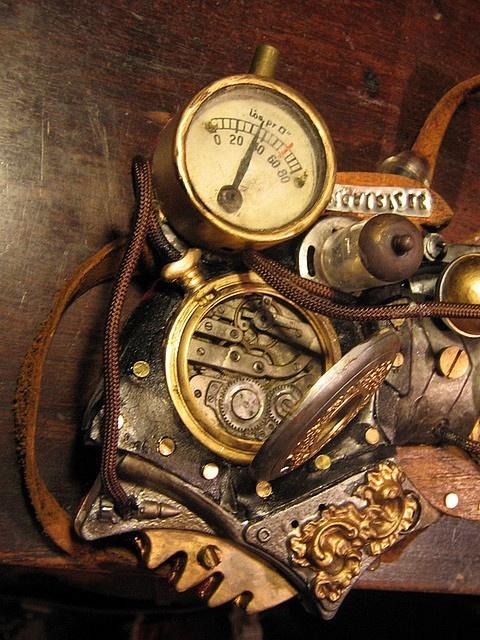 Pressure gauges magpie 39 s treasure pinterest - Steampunk pressure gauge ...