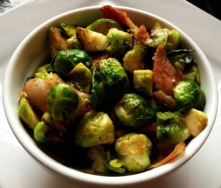 Brussels Sprouts With Bacon And Beer Recipe — Dishmaps