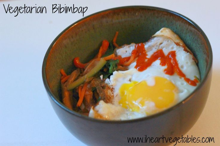 Vegetarian Bibimbap | Yummy Things to Eat | Pinterest