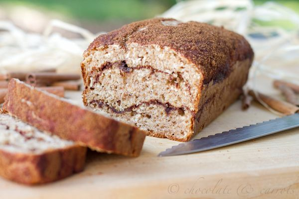 Cinnamon swirl quick bread - also yummy, but don't over bake or it ...