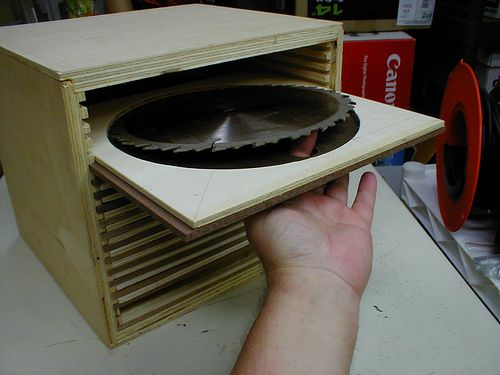 table saw blade storage