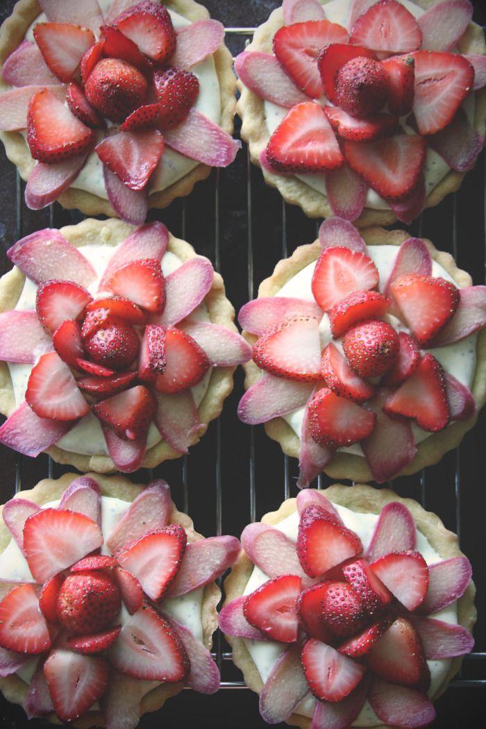 ... Orange Basil Cream / Raspberry Blueberry Tarts with Lime Rosemary