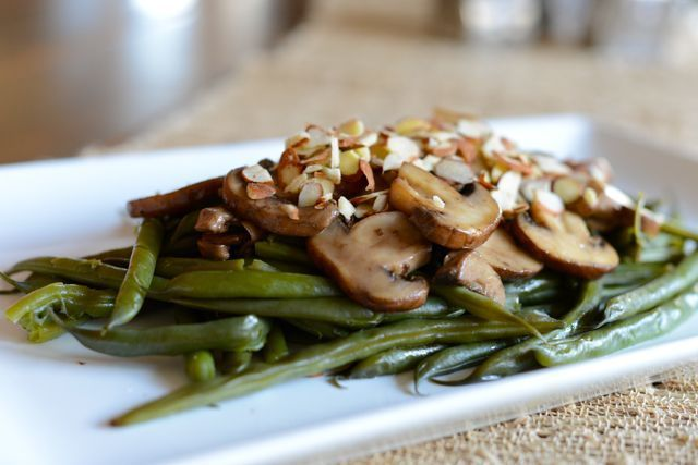 Green Beans and Mushrooms with Dill Vinaigrette Recipe