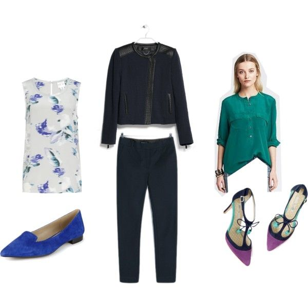 """""""Navy workwear outfit"""" by theworkwearedit on Polyvore"""
