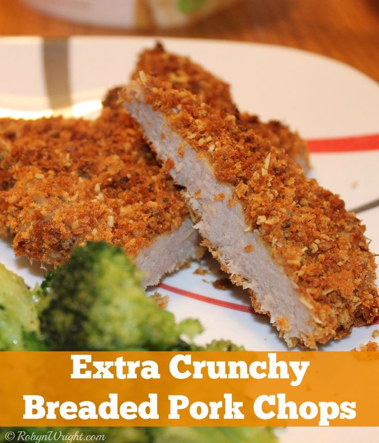 Extra Crunchy Breaded Pork Chops Recipe. Gotta try this, hubby likes ...