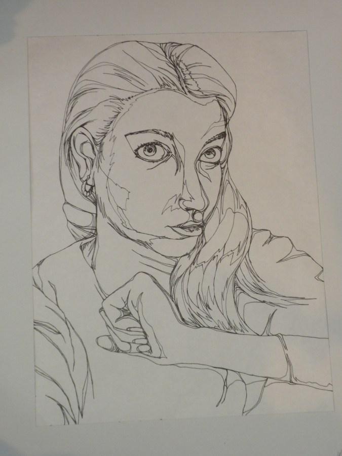 Contour Line Drawing Self Portrait : Contour line self portrait references for school