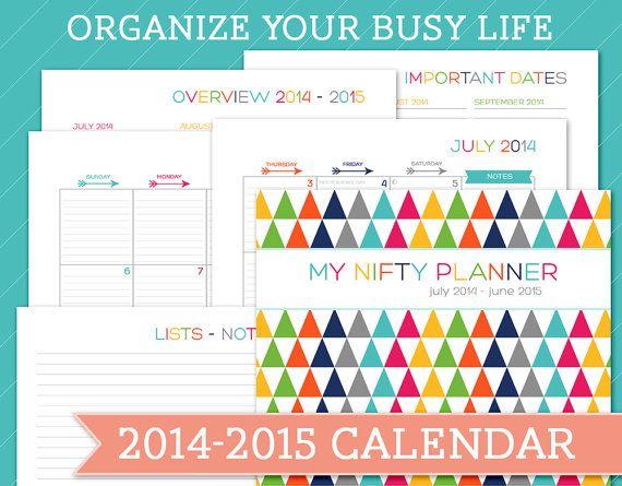 summer planner calendar