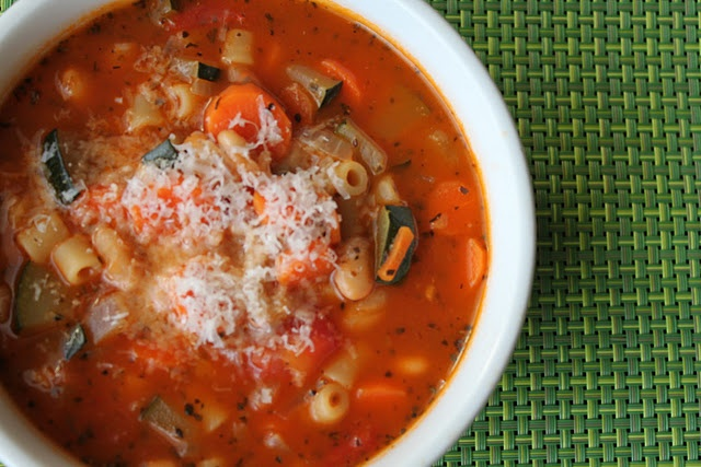 Vegetable Minestrone Soup | Family Food | Pinterest
