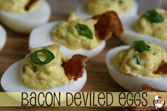 Bacon Cheddar Deviled Eggs | Recipe