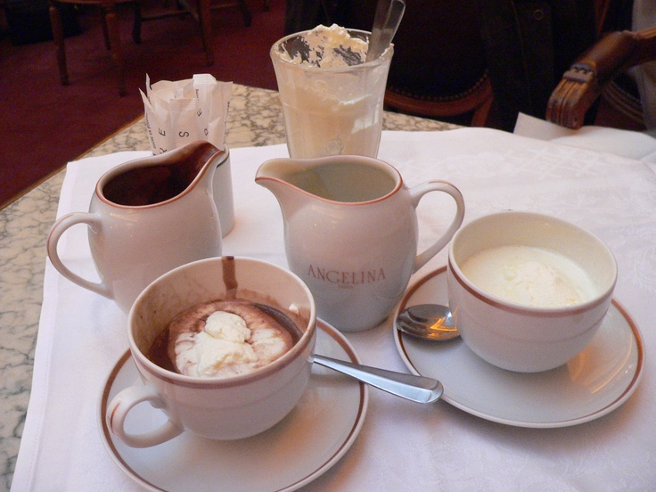 Cafe Angelina in Paris. This is their Le chocolat chaud à l ...
