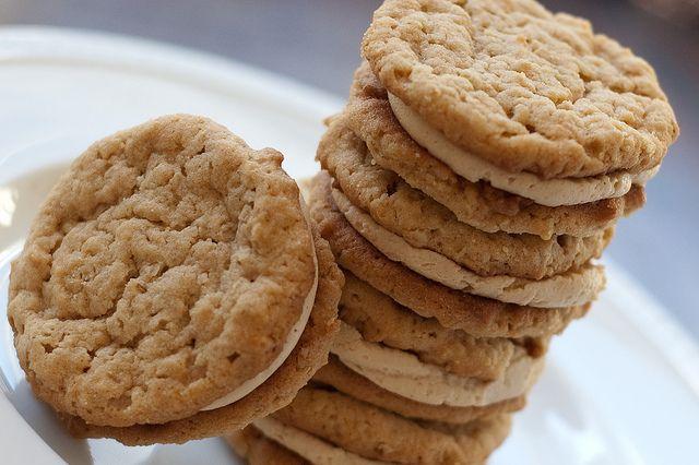 Peanut Butter Oatmeal Sandwich Cookies | Desserts - Baked | Pinterest
