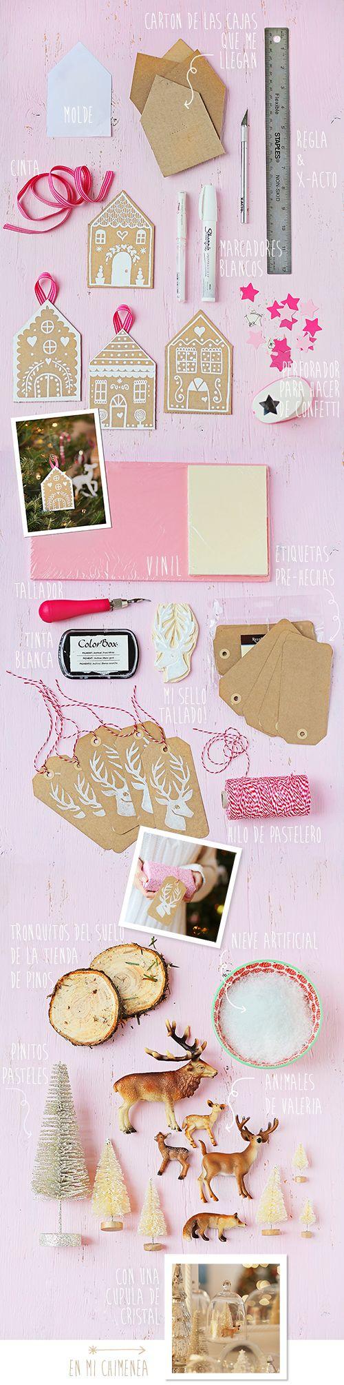 pink, kraft & white holiday